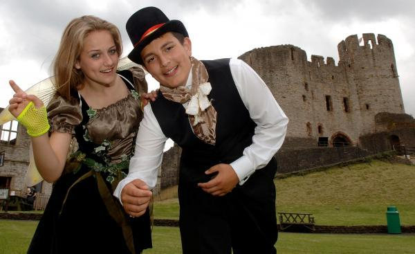Leasowes pupils Charlotte Upton, aged13, as Puck and Julian Southall, aged 14, as Nick Bottom prepare for the Dream.