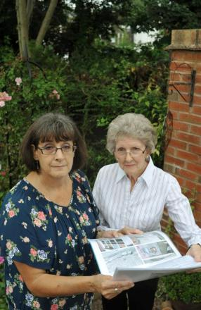 Lynn Adams and her neighbour Pat Benton wih their dossier of complaints.