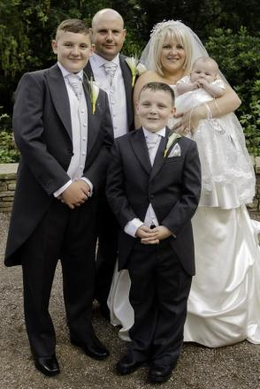 David and Lyndsey Chance, with daughter Brooke May and sons Jake, aged 12, and Luke, aged eight.