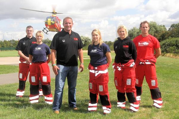 Rugby star Phil Vickery and MAAC staff wearing some of the new clothing from Raging Bull Sportswear
