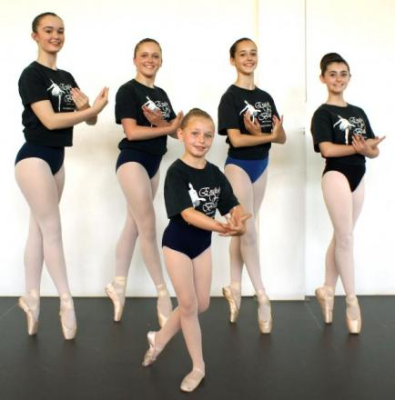 Halesowen ballerinas (from left back) Talia Manders, Sally Croft, Chloe Howarth, Sharni Bill and (front) Paige Mawby.