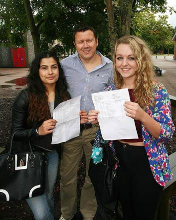 Ormiston Forge principal Andrew Burns with Harpreet Kaur and Dayna Rudge.