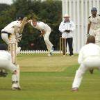 Halesowen News: Himley CC v Walmley CC. Himley bowler Dan Smith. 341430ET (9397547)