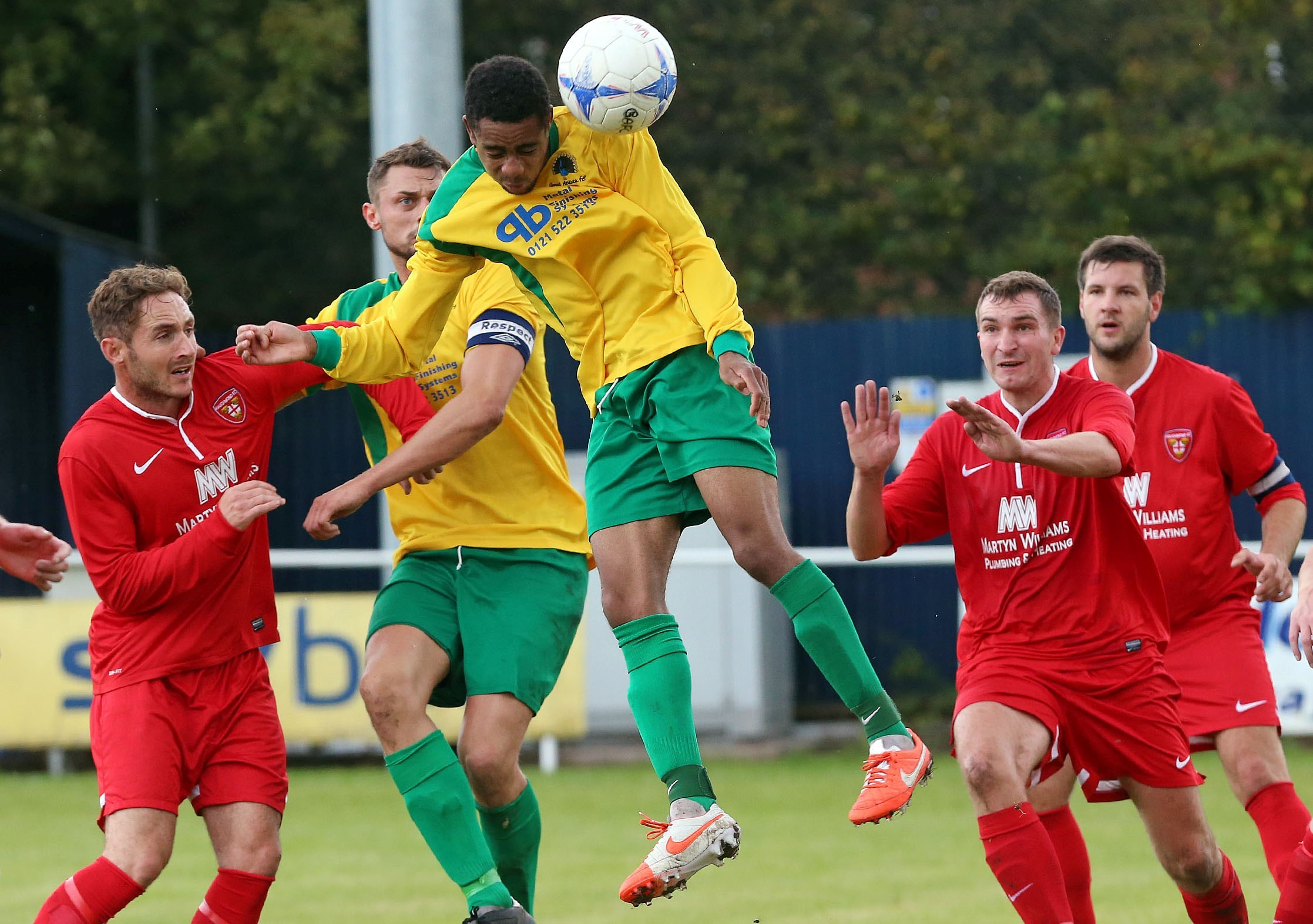 l Gornal Athletic's Rion Frances-Mills in action against Haughmond.