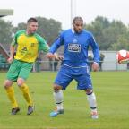 Halesowen News: Iyseden Christie's goal against Barwell gave the Yeltz their first win of the season. Photo by Dave Hawley.