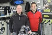Andy Cameron and Keith Preece in their new shop