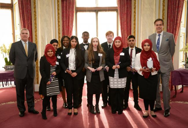 Cradley Heath business students clinch runner up spot at Buckingham Palace