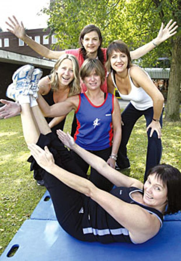 Pic: Back (l to r) Tracey Biddle, instructor Alison Pickering, Nicola Cooper, Jenny Hawkins and (front) Donna Grove look forward to the new Fitness Pilates class at Haden Hill Leisure Centre.