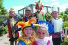 Aston Snook, Jordon Pickett, Liam Morton, Adam Parsons, Evie Harrison and Abigail Jefferson get Medieval for a day.