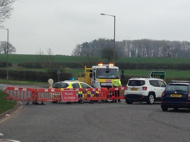 Latest: Road reopened after death crash on A422 Stratford