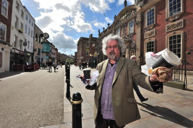 CRACKDOWN: Councillor Adrian Gregson, the leader of Worcester City Council. Since October hundreds of litter louts have been fined.