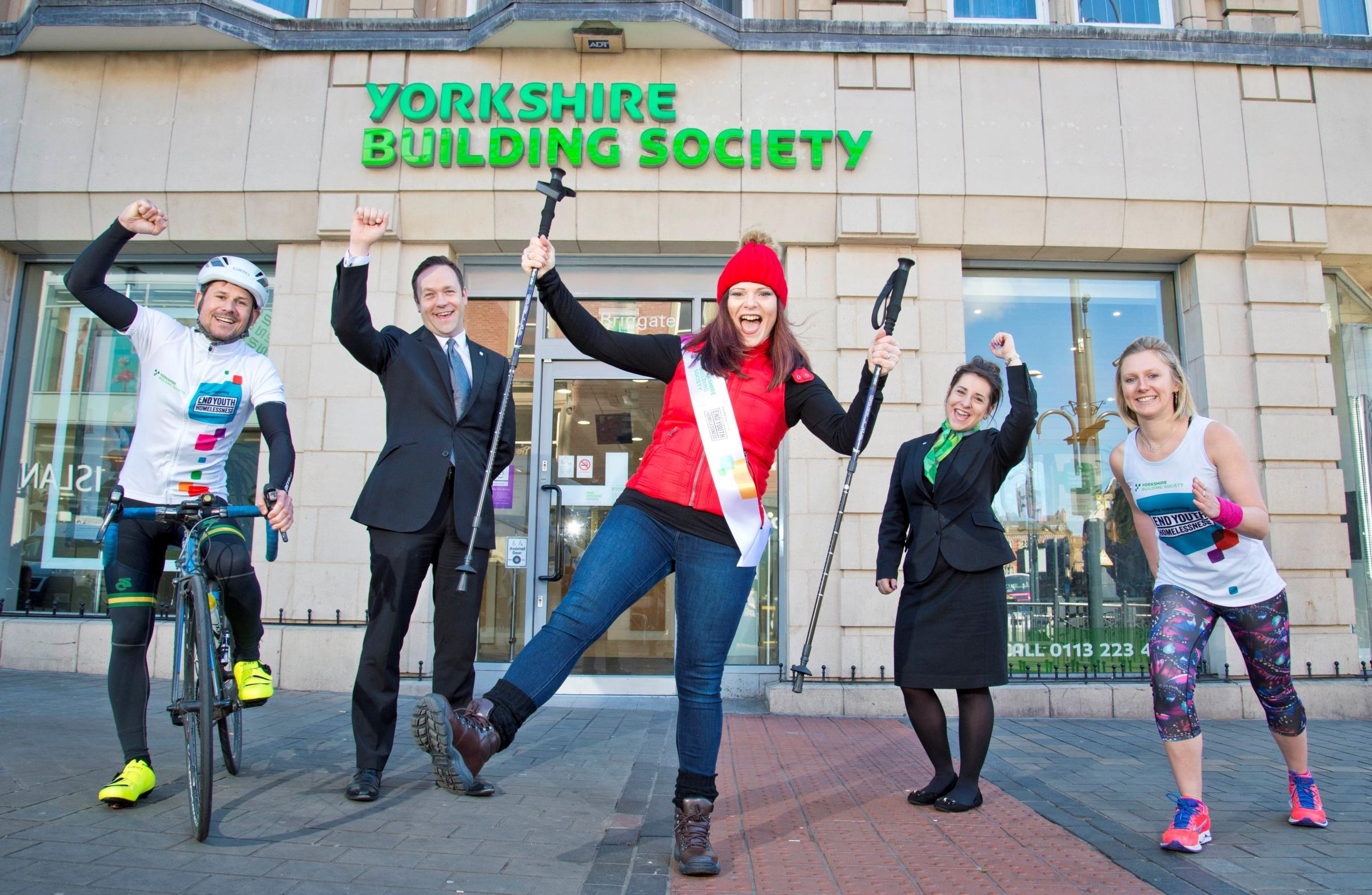Staff from Yorkshire Building Society get ready to support homeless charity. Photo: Richard Walker