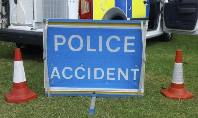 A girl has suffered a serious head injury in a crash in Oldbury