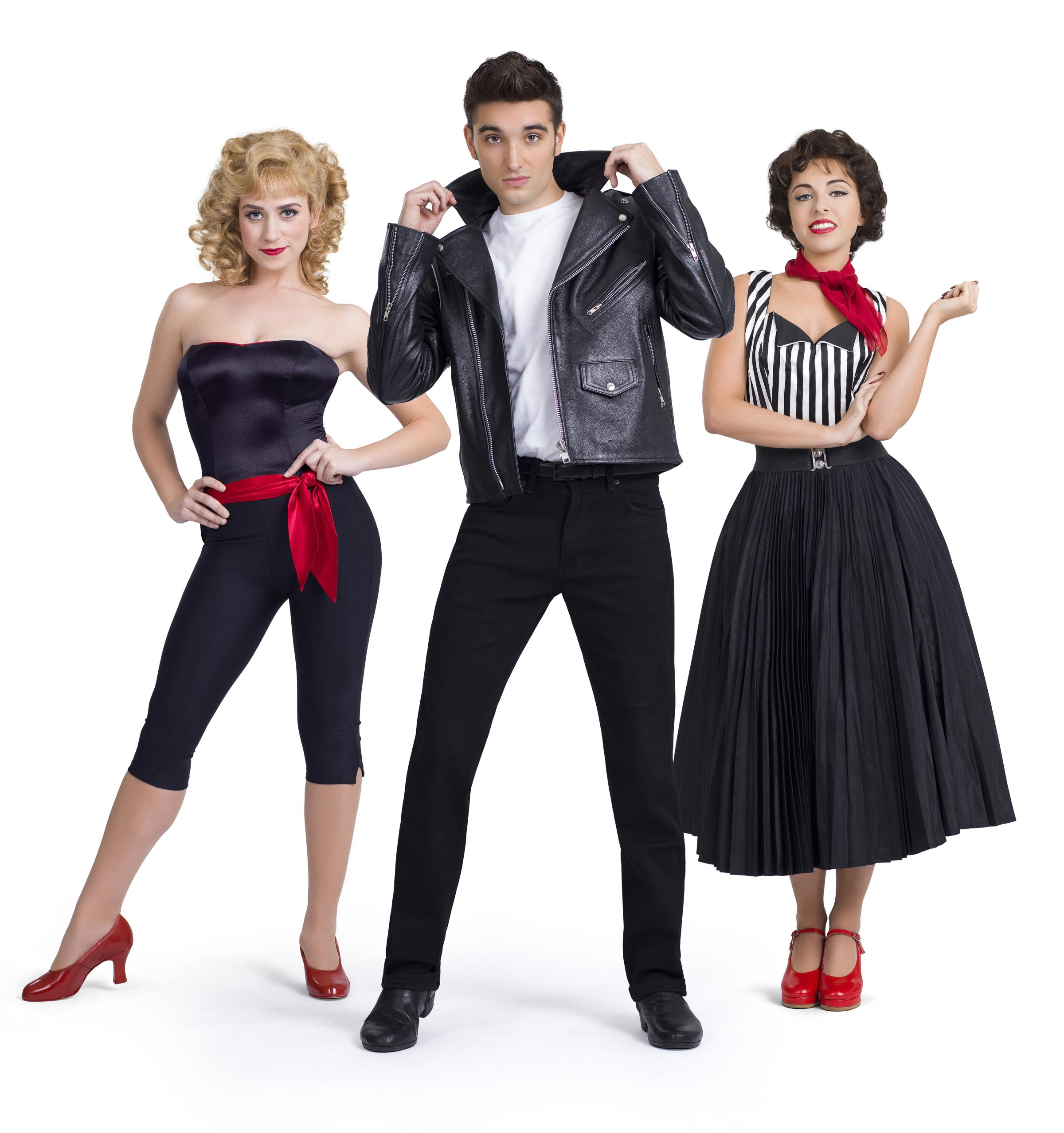 Danielle Hope (Sandy), Tom Parker (Danny) and Louisa Lytton (Rizzo) are set to star when Grease comes to Wolverhampton Grand Theatre. Photo: Paul Coltas