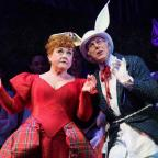 Halesowen News: Wendi Peters and Dave Willetts star as the Queen of Hearts and the White Rabbit in Wolverhampton Grand Theatre's production of Wonderland. Photo: Paul Coltas