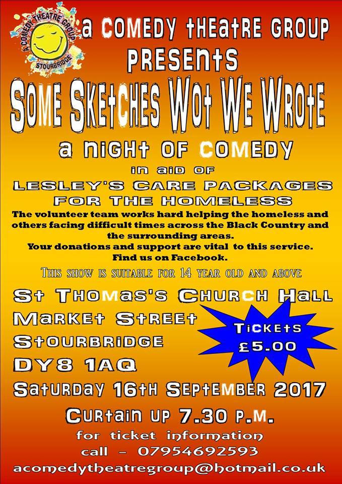Theatre group to stage night of comedy to help the homeless