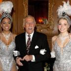 Halesowen News: Bruce Forsyth joined by Miss Puerto Rico (left) and Miss England to celebrate his 80th birthday at the Dorchester Hotel (Anthony Devlin/PA Wire/PA Images)