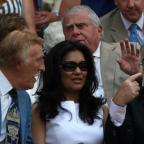 Halesowen News: Bruce Forsyth (left), his wife Wilnelia and Jimmy Tarbuck (right) during Day Three of the 2010 Wimbledon Championships at the All England Lawn Tennis Club, Wimbledon (PA)