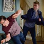 Halesowen News: EastEnders' Jay Brown and Ben Mitchell to lock fists in explosive fight (Kieron McCarron/BBC)