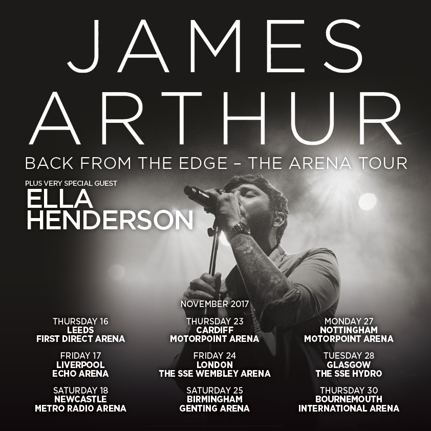 James Arthur set to bring first arena tour to Birmingham