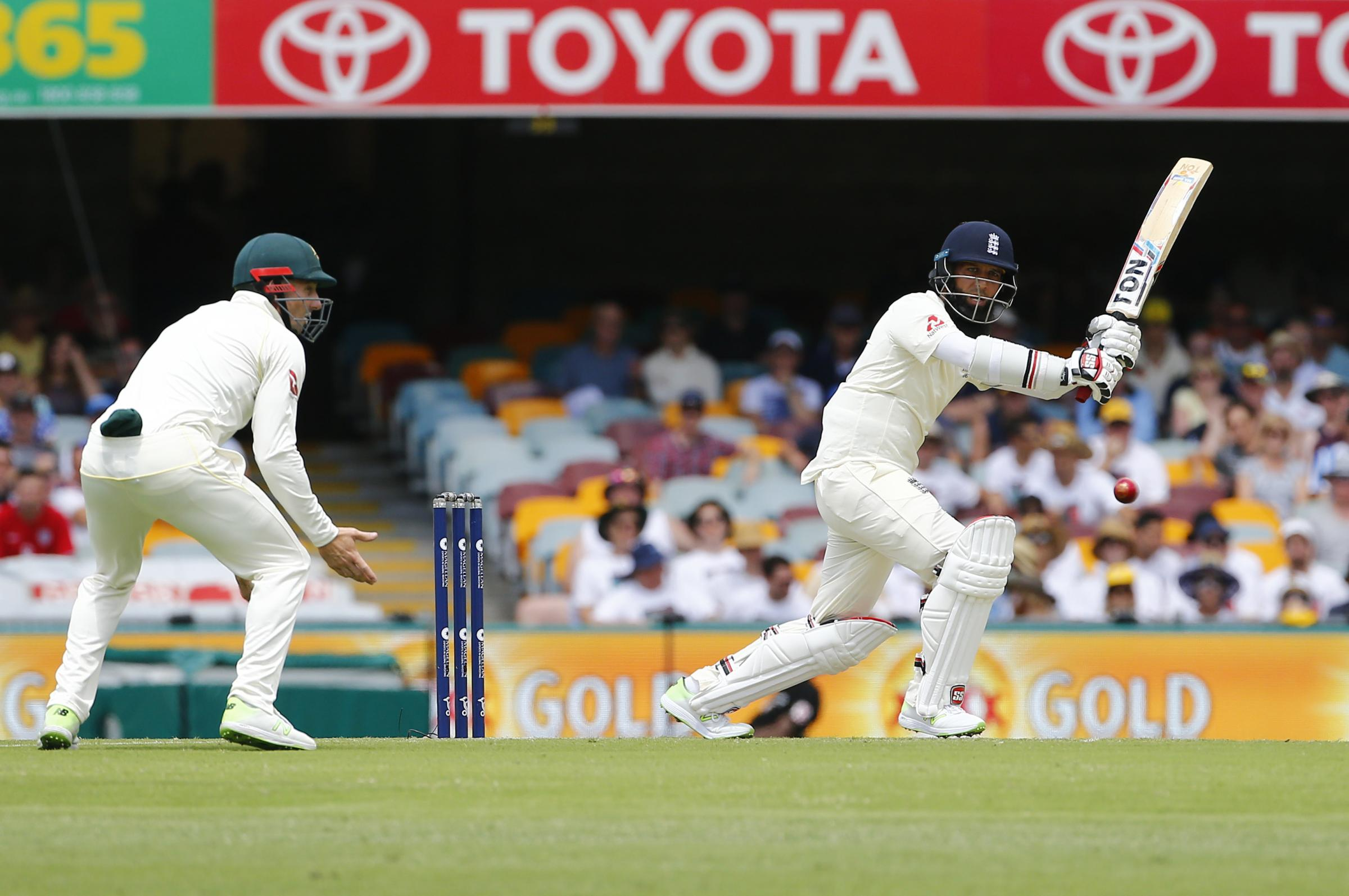 PERFORMING WELL: Moeen Ali at the Gabba. Pic: Jason O'Brien/PA Wire.