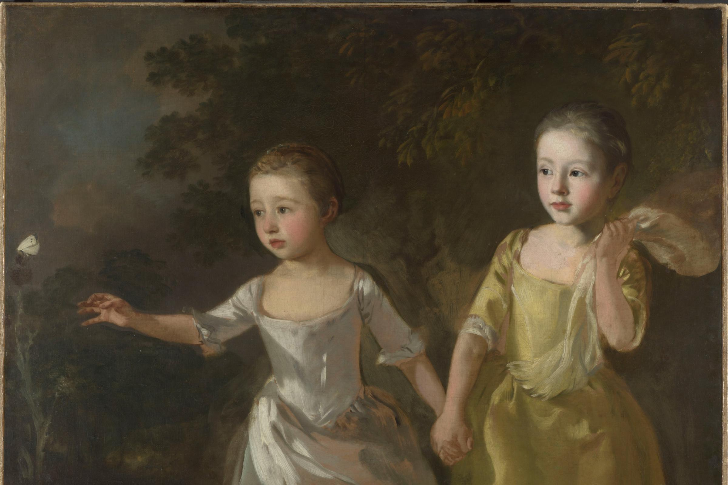 The Painter's Daughters Chasing A Butterfly by Thomas Gainsborough (The National Gallery)