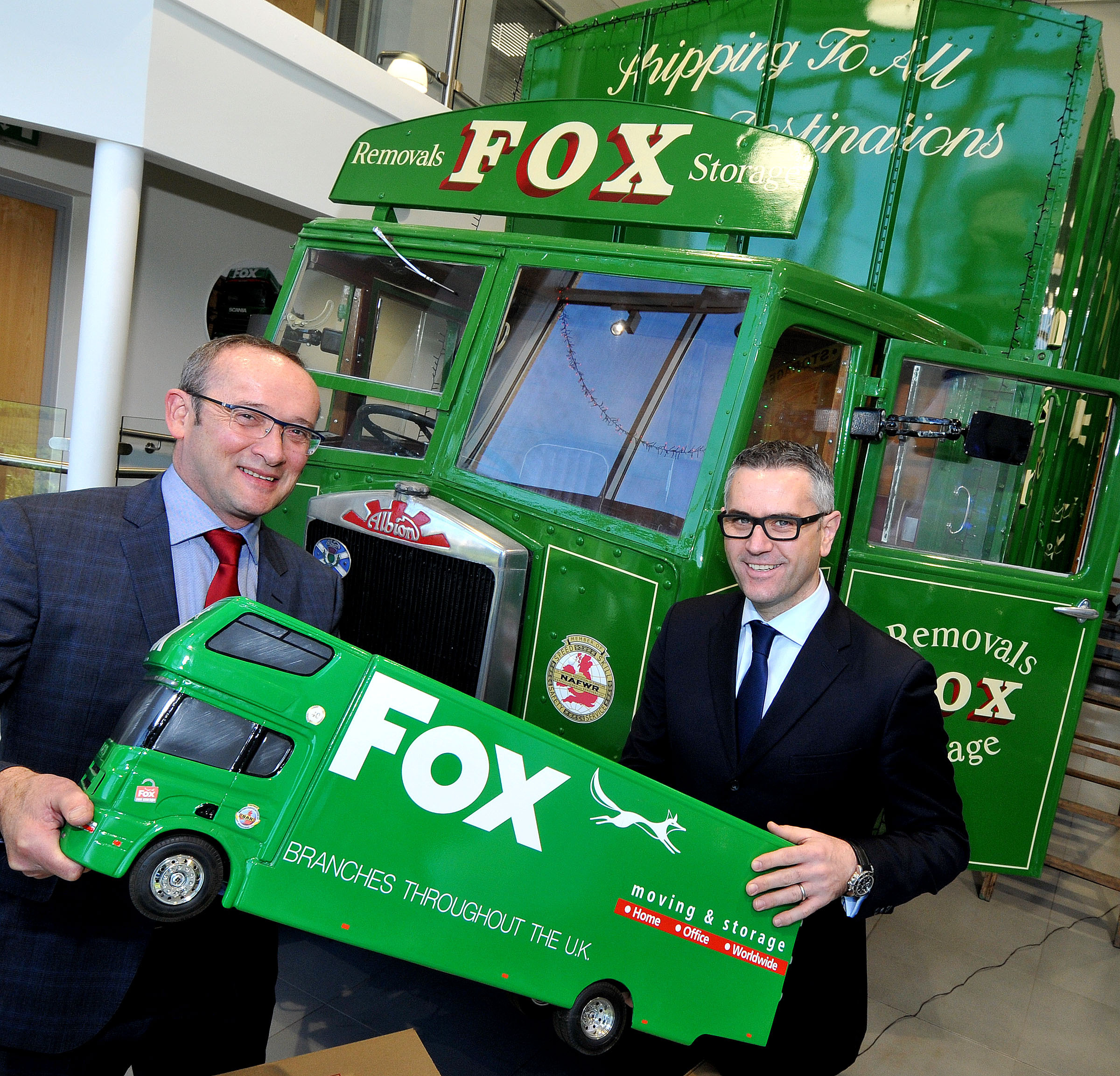L-r - Fox Moving and Storage MD Paul Fox and NatWest relationship director Adrian Coles.