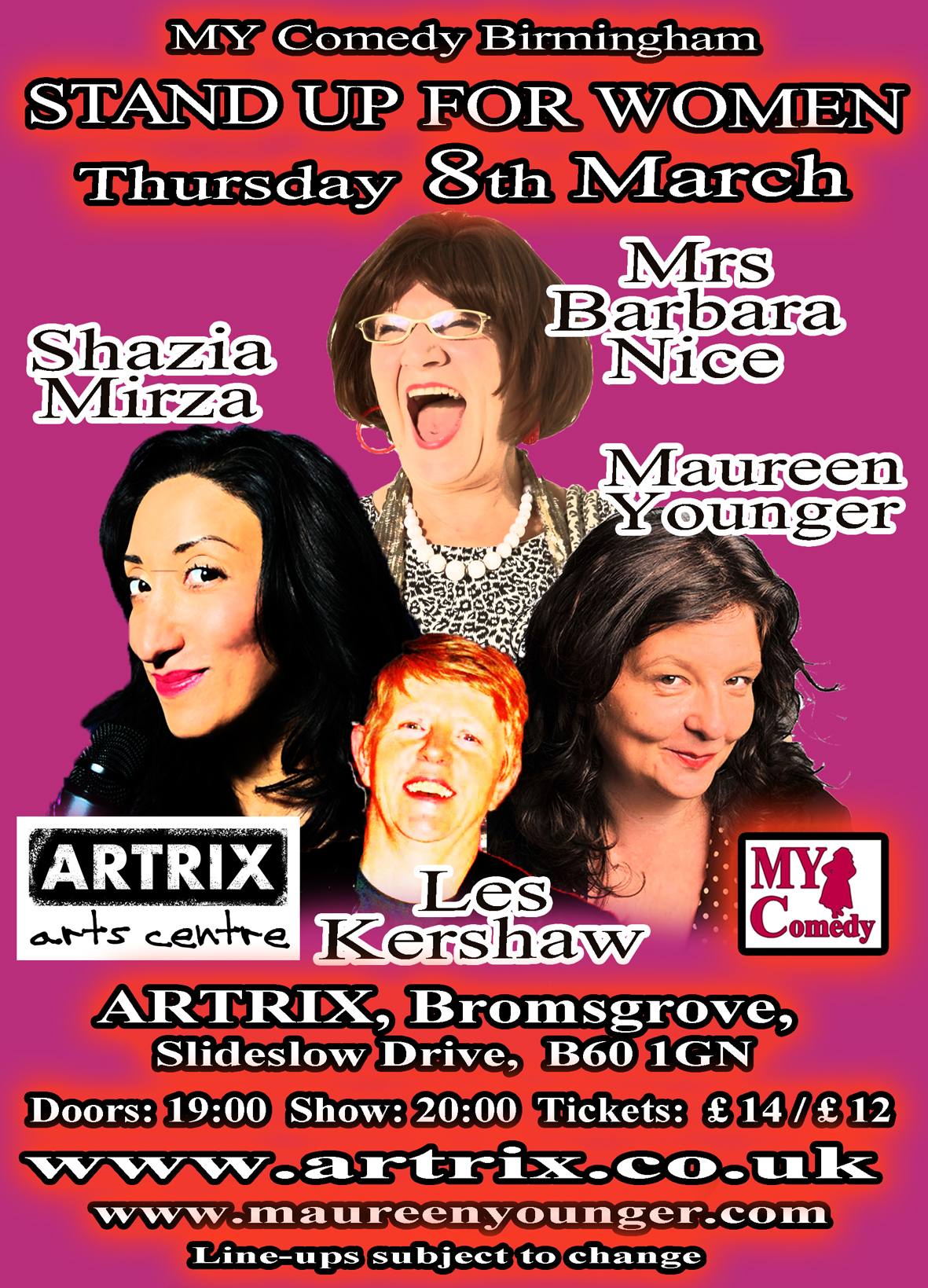 Stand Up for Women with Barbara Nice and Shazia Mirza