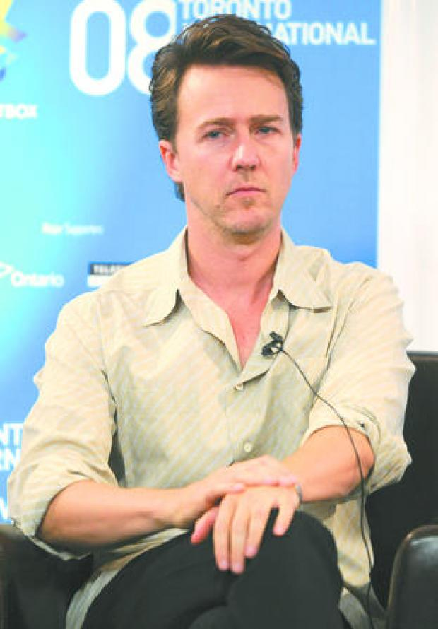 Halesowen News: Renowned for work behind the camera: Edward Norton.