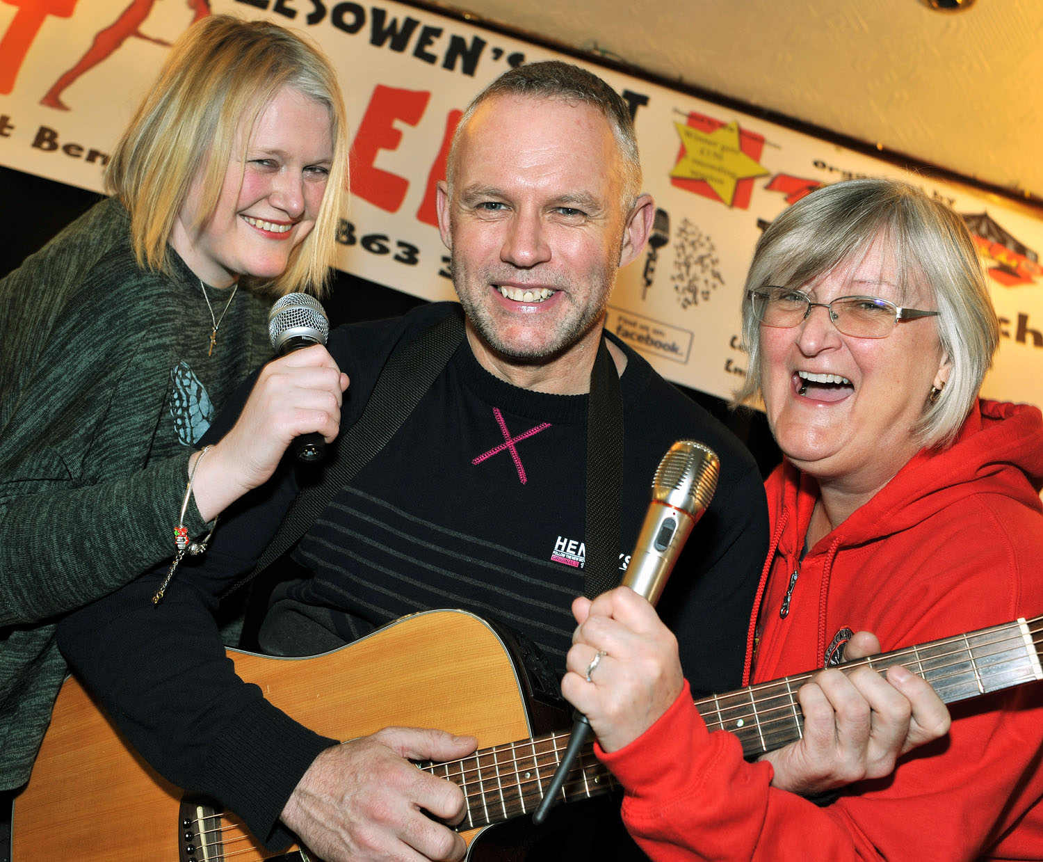 Organisers Michelle Williams, Stuart Henley and Karen Dunham prepare for the first 'Halesowen's Got Talent' competition.