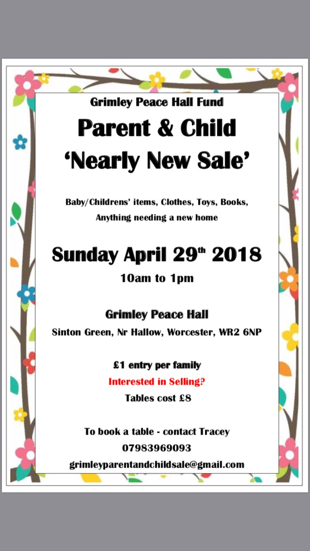 Parent & Child Nearly New Sale