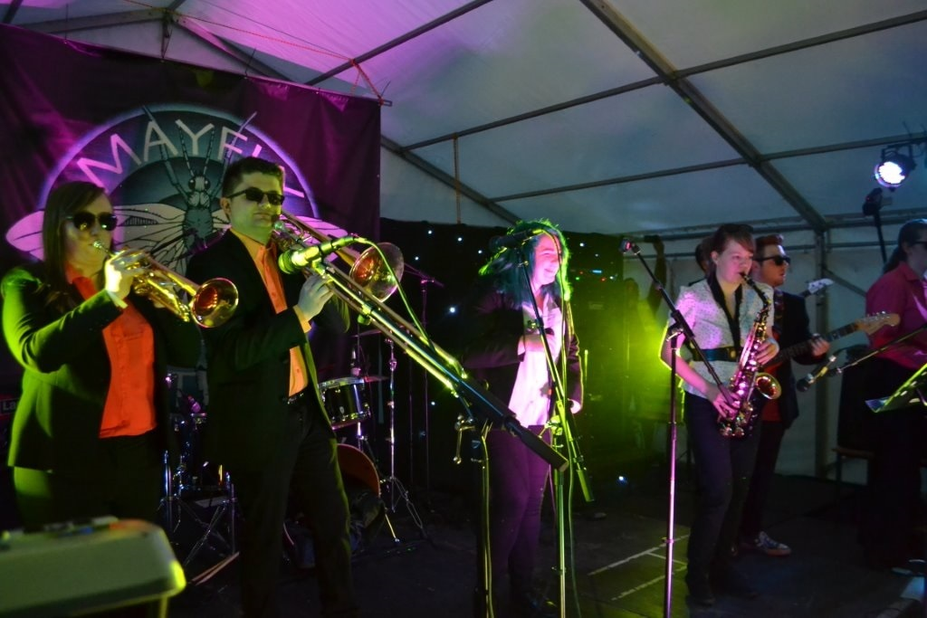A Stevie Wonder tribute band In The Key of Life performing at Mayfly last year.