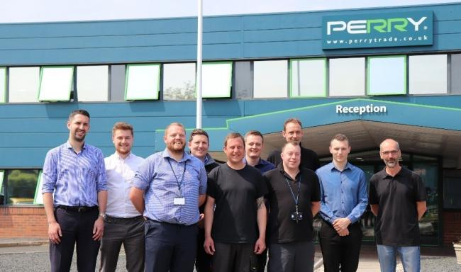 A Perry & Co staff Will Dougan, Grant Esp, Ashley Armstrong, Patrick Corcoran, Chris Chater, James Dale, Chris Rowley, Lee Crosby, Phil Harvey and Martin Hinton who are preparing for their Snowdon climb.