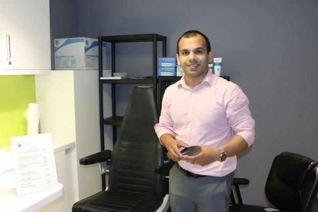 Podiatrist and owner Abul Hasnath