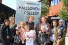 Halesowen College students and the children from Belarus during their activity day.