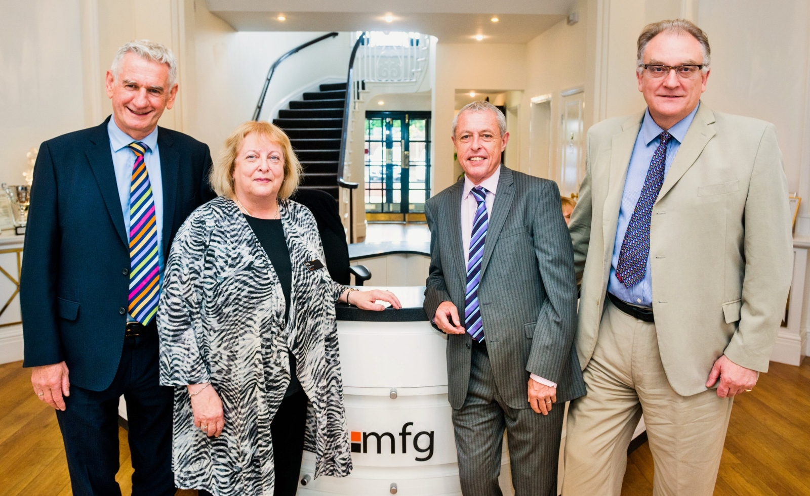 (L-R) Brian Flint (Pearson Rowe), Suzanne Lee (mfg Solicitors), Mike Deeley (Pearson Rowe) & Maynard Burton (mfg Solicitors)