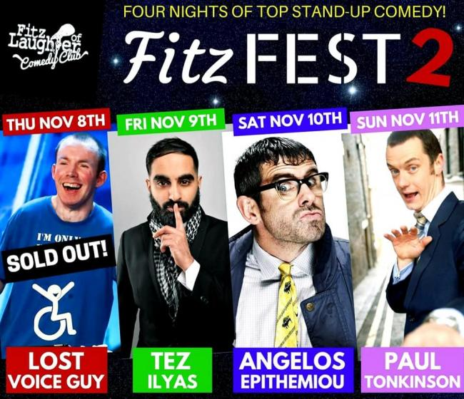 Four nights of top stand-up comedy is coming to Stourbridge in November as part of Fitz Fest 2.