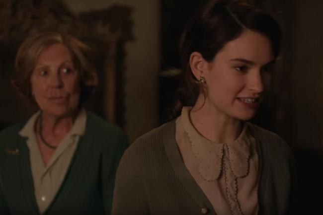 The Guernsey Literary and Potato Peel Pie Society, staring Lily James and Penelope Wilton, will be shown on the big screen at Oldbury Rep.
