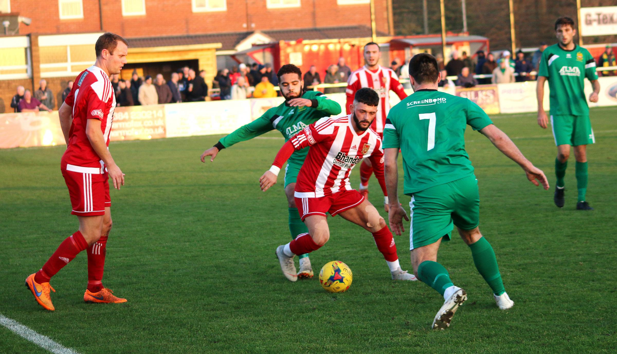 Callum Powell in action for Stour against Hitchin