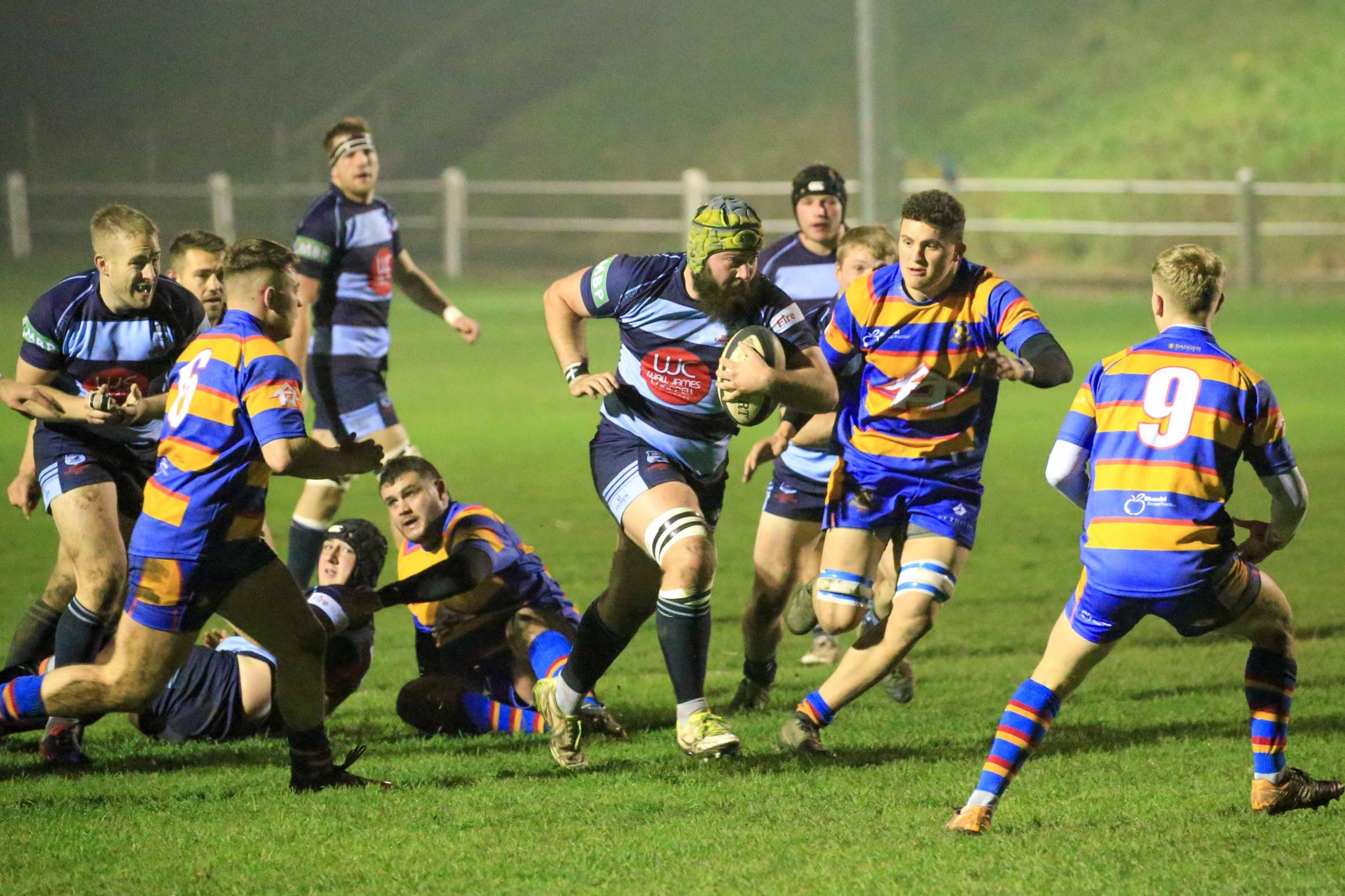 Jake Thompson on the charge for DK. Photo by Ian Jackson