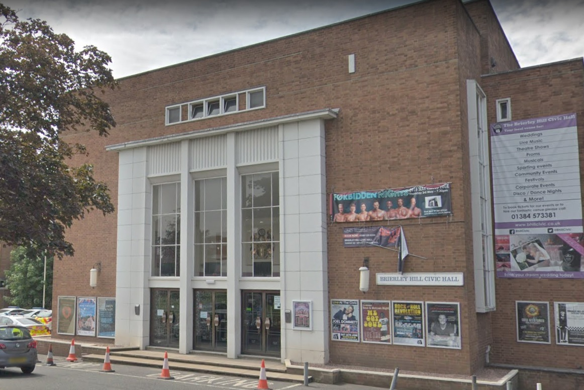 Live At The Civic takes place at Brierley Hill Civic Hall on Saturday February 9. Photo: Google Maps.