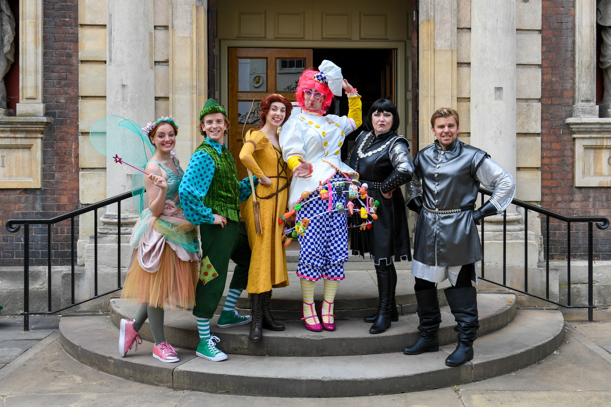 The cast of Maid Marian and the Merry Men in Worcester's 2018 panto. Picture: John Philpot