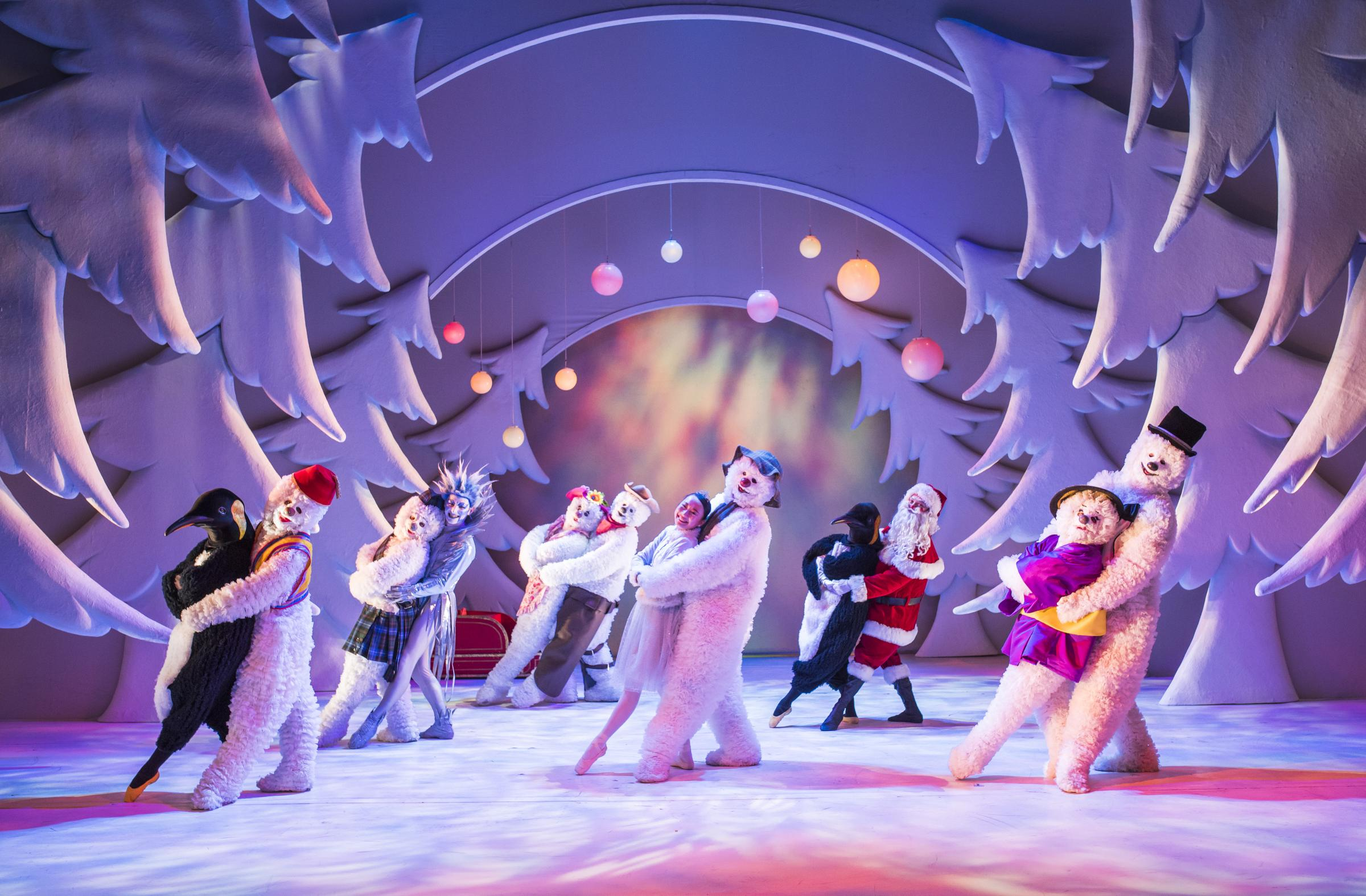 A scene from The Snowman which is running at Birmingham Repertory Theatre. Pic - Tristram Kenton