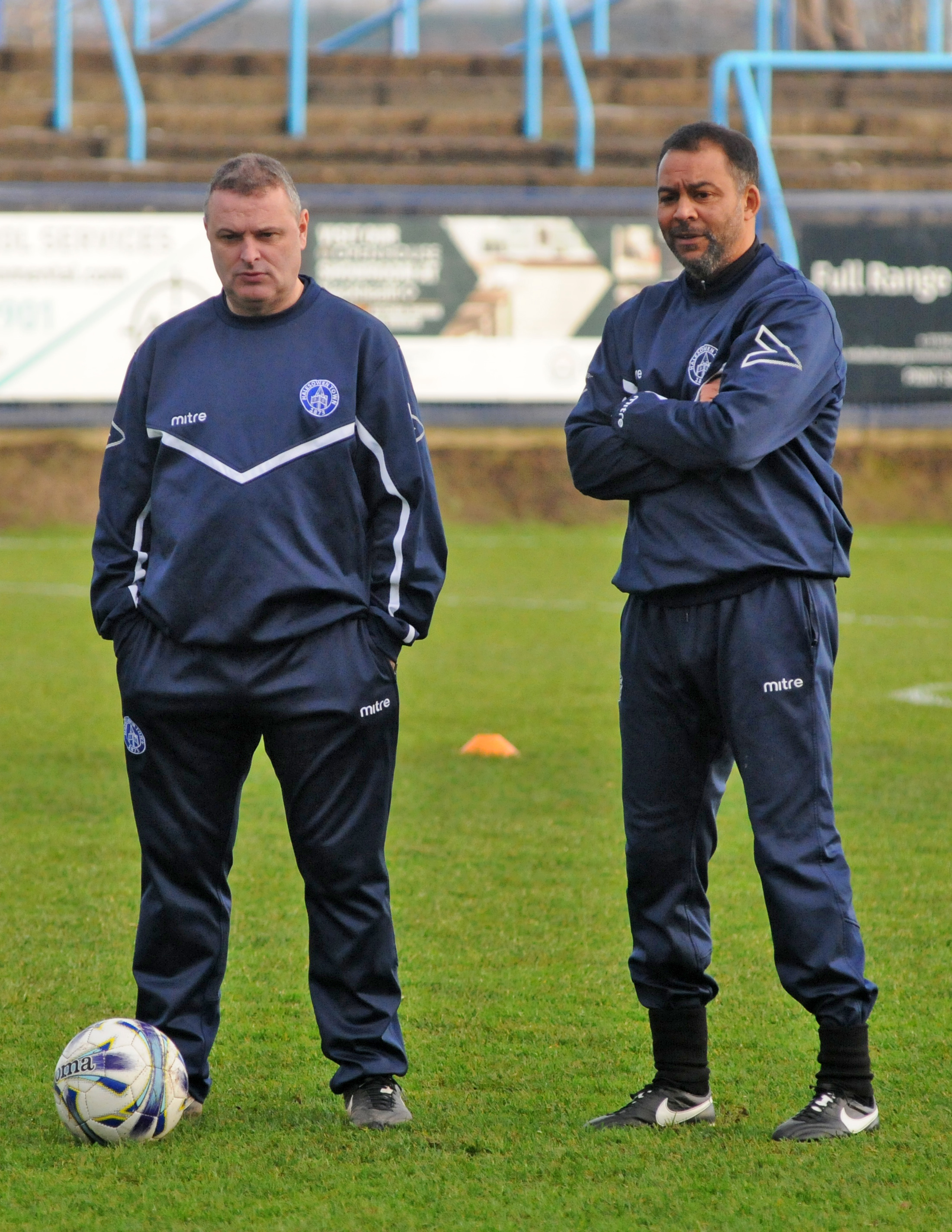 Boss Rob Smith, left, with assistant Larry Chambers