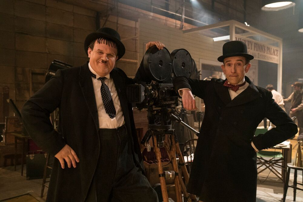 John C. Reilly as Oliver Hardy and Steve Coogan as Stan Laurel. Photo: Entertainment One.