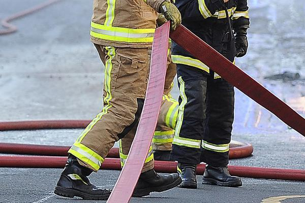 Firefighters tackling fire in Brierley Hill