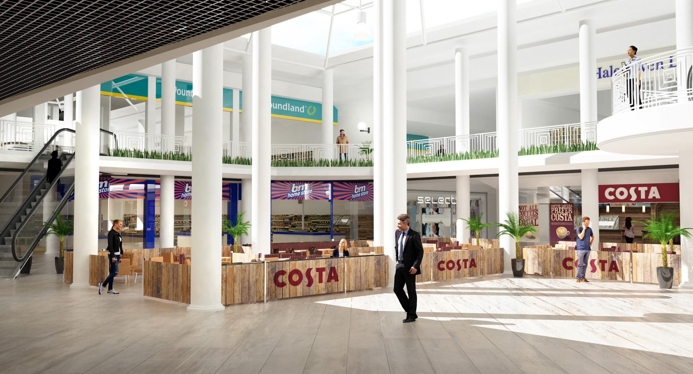 How the Cornbow Shopping Centre will look with the new stores