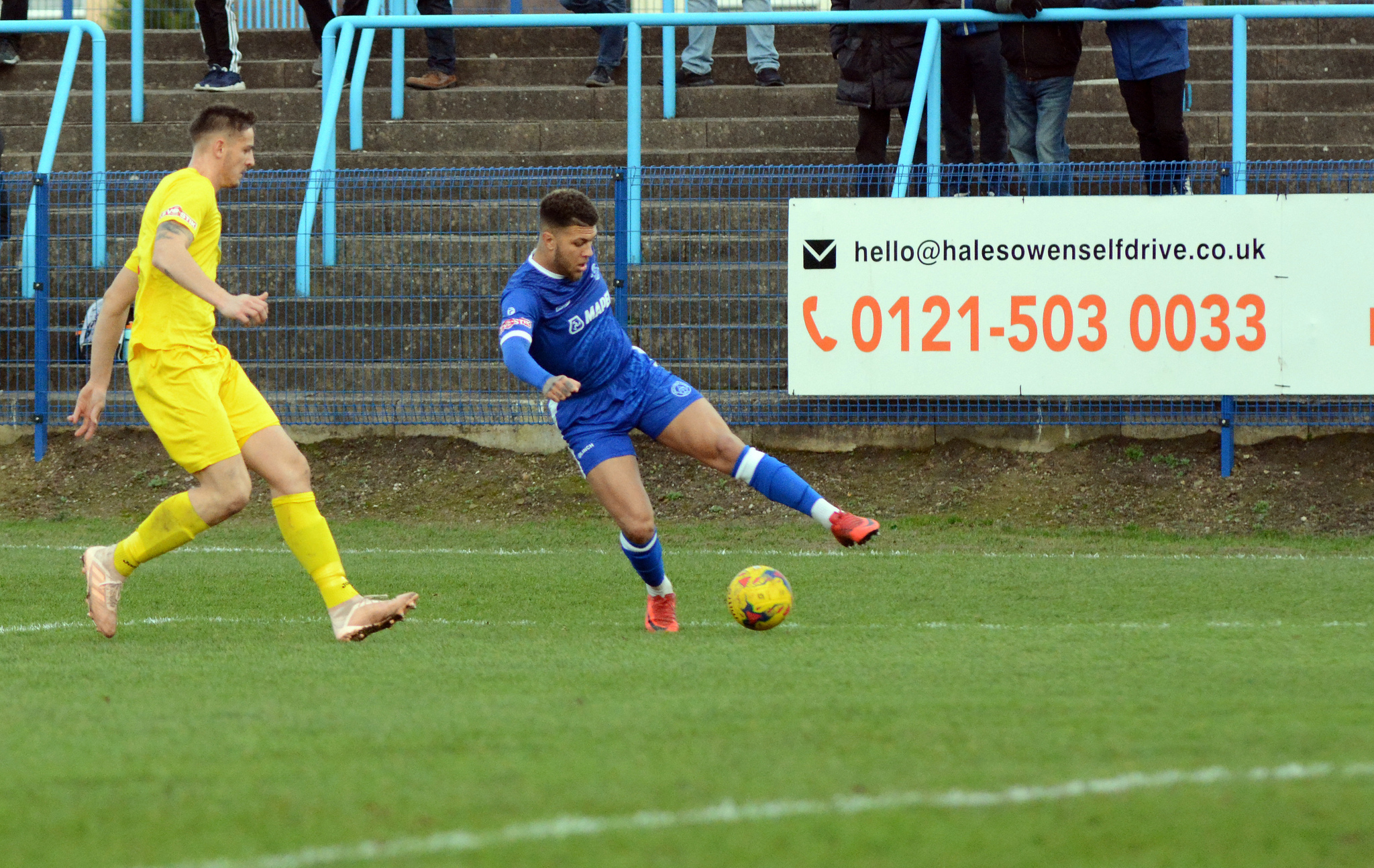 Dan Sweeney has been recalled by Solihull. Photo from Halesowen Town.