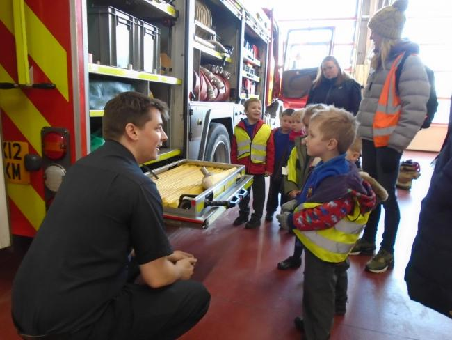 FUNDING: Eckington CE First School pupils trip on a trip to Evesham fire station
