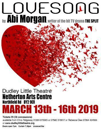 Lovesong will run at Netherton Arts Centre from March 13 to 16